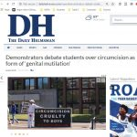 Articles Published Daily Helmsman Debate Protesters 2